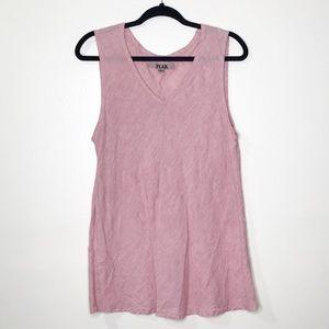 Flax Linen Tunic Tank Pink G463